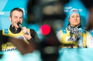 Jørgen Aukland och Seraina Boner leder Swix Ski Classics