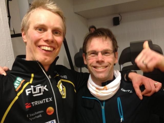 Jag och Jacob Westling på ett gym på Kungsholm