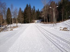 Med Peder Öberg och Z som pistmaskinsförare på Borås skidstadion är livet lätt att leva