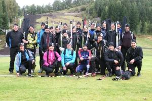 Förra årets gäng på gräsplanen mellan Valbergsängen och skidtunneln