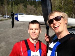 Martin Ewaldsson och jag vid Almenäs