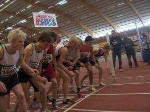 Inne-DM Göteborg 2007. Starten på 3000 meter.