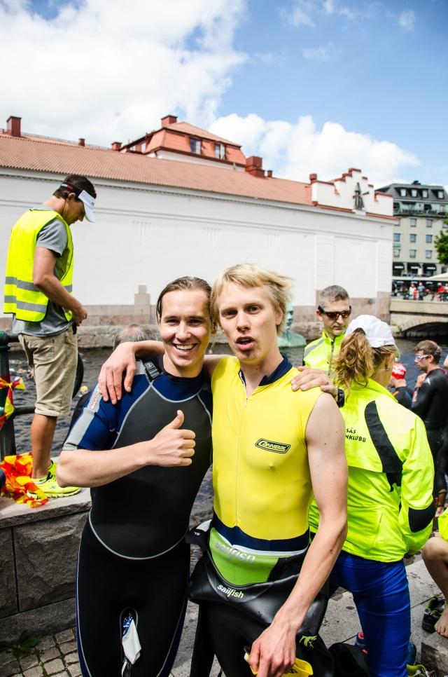 Per Odqvist och jag gick i samma klass i nio år. Här från Mitt i Borås Triathlon 2013. Jag vann över honom där, men han var grymmast på skateboard och snowboard på högstadiet och gymnasiet