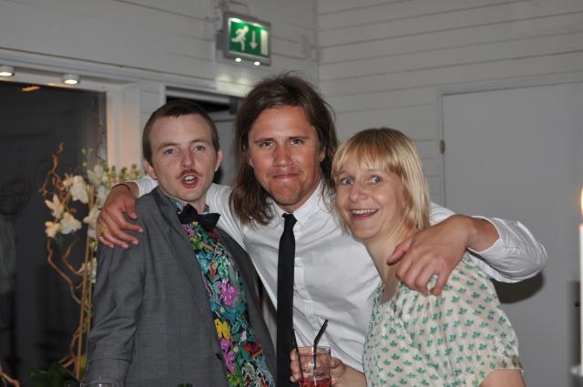 Björn, Jocke Haag och Mia. Kul folk från Martins Jönköpingstid. Med igår var även Oskar Davidsson, Linus Davidssons storebror.