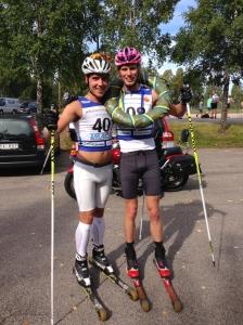 Rickard Bergengren gjorde en riktigt bra insats igår efter att ha åkt 53 km tävling i Tidaholm dagen innan.