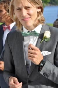 Olle Häggdahl är också anmäld till UltraVasan. Här på sitt bröllop för ett par veckor sedan bar han festens snyggaste klocka.