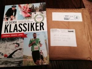 """Boken """"En Svensk Klassiker"""", där jag skrivit längdskidskapitlet och träningsprogrammen, kom på posten igår. Trevligt!"""