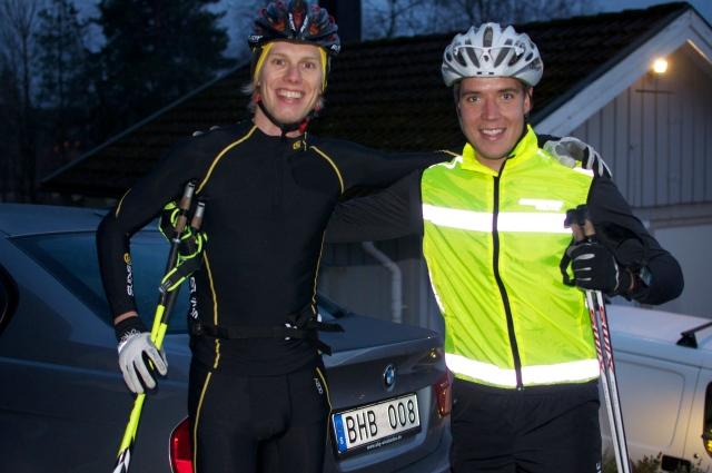 Rickard Bergengren kom förbi igår med sin nyköpta BMW med 260 hk för ett trevligt rullskidspass