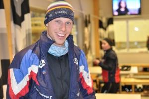 Martin Josefsson efter ett pass i Torsbytunneln
