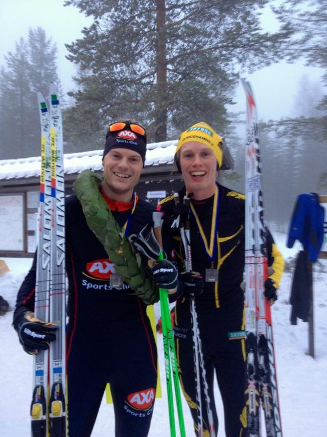 Jimmie Johnsson och jag bar båda nöjda och glada efter Norrbärke skimaraton.