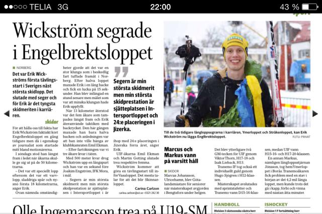 Ulricehamns Tidning 11 februari 2014