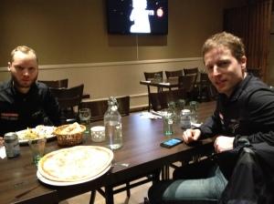 Jag fick åka hem med de trevliga Sternasrna Niklas Dahlgren och Andreas Nilsson.