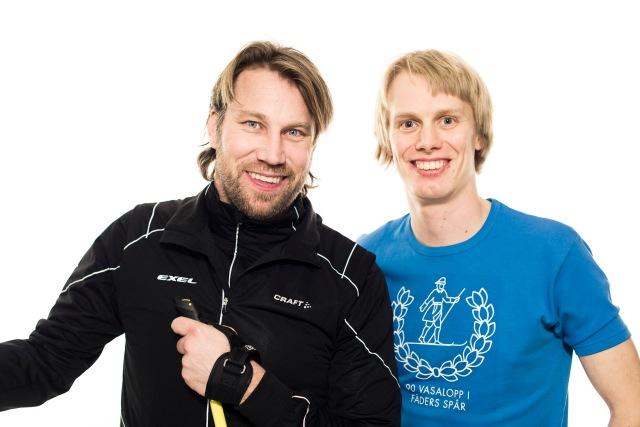 Peter Forsberg och jag mot Vasaloppet. Foto: Luca Mara