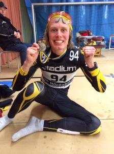 """Øystein """"Pølsa"""" Pettersen tog denna bild på mig i omklädningsrummet efter Vasaloppet"""