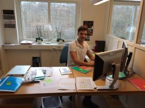 Rickard Bergengrens kontor på Abecita i Borås