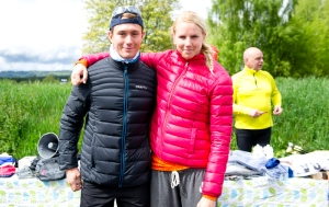 Viared Classic Rollerski 2014 segrarna Marcus Johansson, Ulricehamns IF och Madelen Carlzon, IK Stern