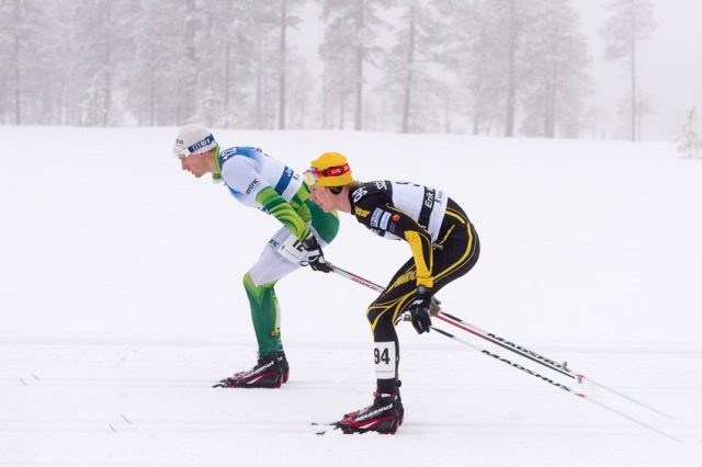 Jerry Ahrlin och jag tandemstakar. Foto: Magnus Östh.