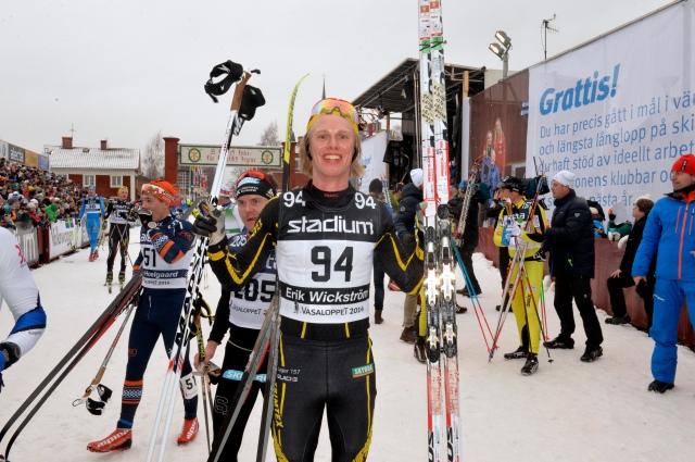 Erik Wickström glad i målet. Foto: Nisse Schmidt.