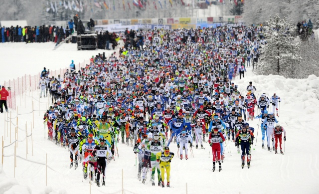 Starten i Vasaloppet 2014. Foto: Nisse Schmidt.
