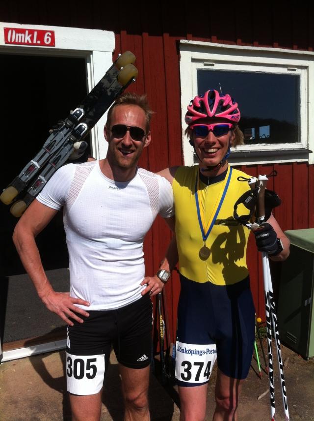 Vinnaren Mattias Claesson och jag
