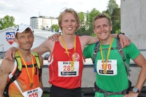 Borås Ultramarathon 2014. Topptrion i 45 km-klassen.