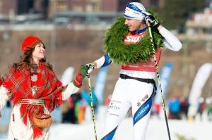Daniel Richardsson vinner Årefjällsloppet 2014, solo. Foto: Magnus Östh.