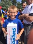 Tävlingens yngste deltagare var 10 år och körde 16 km