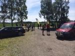 Trevligt tävlingsområde vid Rackeby Bygdegård