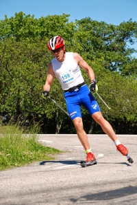 Markus Ottosson solade över 4 mil innan vi hann ikapp honom. Foto: Thomas Svanström.