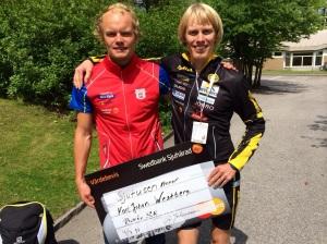 Rullskid-SM 2014 i Borås under SM-veckan. Karl-Johan Westberg kan det där med att åka snabbt på rullskidor (och vanliga skidor).