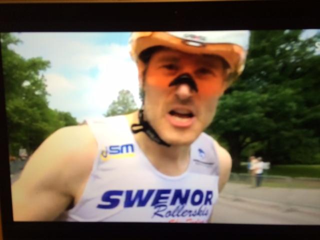 Tobias Westman hade show framför kameran efter målgång. Och i två redan legendariska intervjuer i SVT.