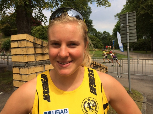 Hanna Falk fick ett silver med Maria Nordström på sin 25-årsdag.