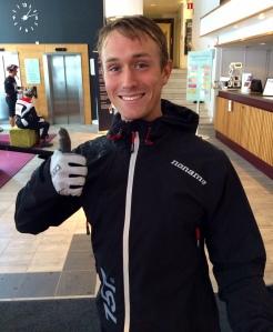 Min klubbkompis Marcus Johansson lyckades inte komma tillbaka efter stavbrottet, men han vann ändå den svenska rullskidscupen.