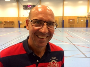 Torgny Mogren i en gympasal