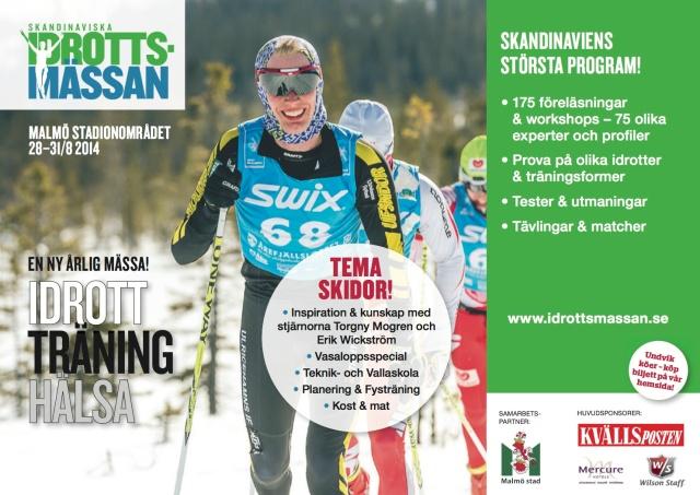 Annons i Kvällsposten nyligen. Bilden är från Årefjällsloppet 2013, då jag gjorde debut på Madshusskidor i tävlingssammanhang.
