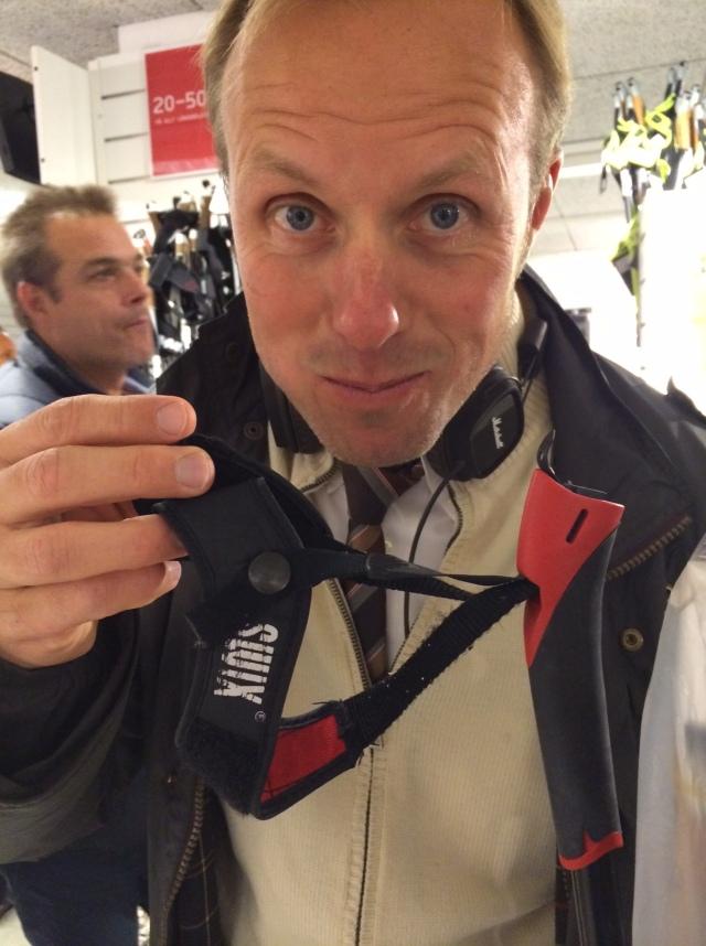 Fredrik Erixon dök upp med min favoritrem: Swix SR94, som slutade tillverkas runt millenieskiftet