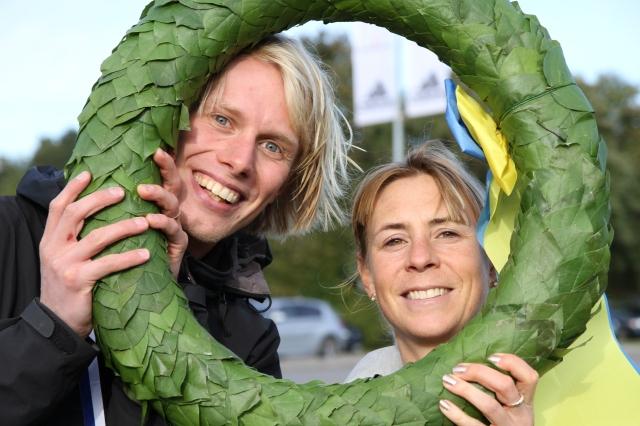 """Jag har mötte Annelie efter målgång sade hon: """"Har du bara silvermedalj Erik, jag har guldmedalj"""". Fan vad grymt att hon tog hem det! Heja Borås!"""