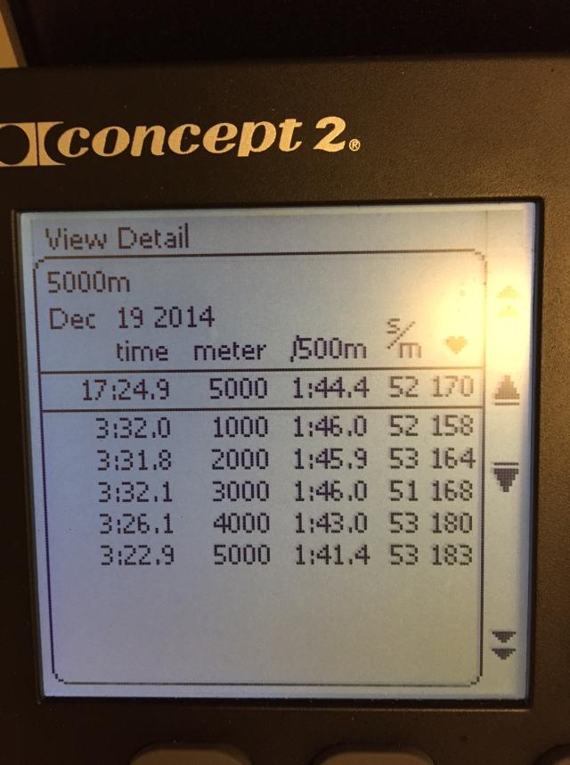5000 m SkiErg nya SkiErgen.