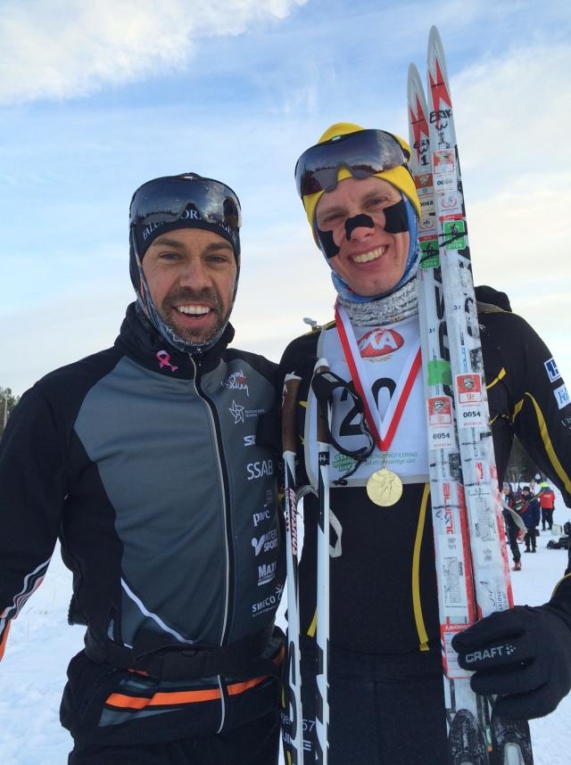 Adam Steen och jag efter AXA Ski Marathon. Foto: www.adamsteen.se