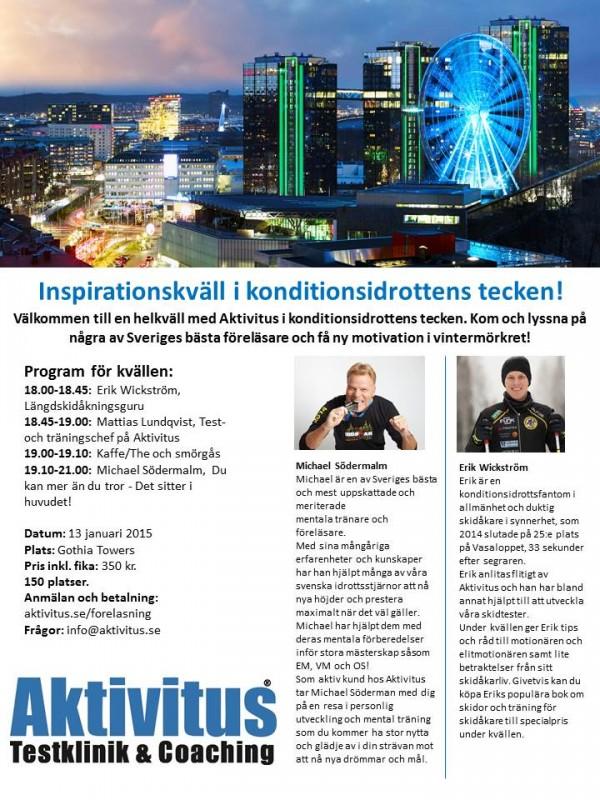 Föreläsning med Erik Wickström
