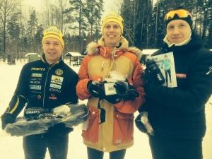 Ulricehamns IF 3 st topp 5. Martin Gotting till vänster och Rasmus Ax till höger. Han fick det finaste priset.
