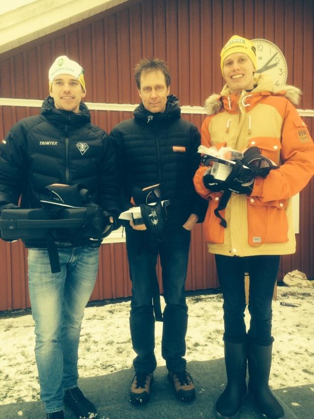 Robert Eriksson, Peo Svahn och jag på podiet