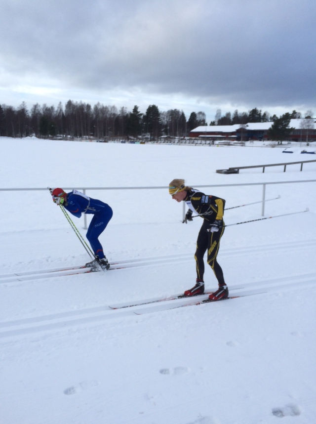 Lars Suther vs Erik Wickström Intersportloppet 2015. Foto: Lars-Åke Carlzon.
