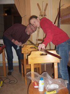 Jag har åkt Wadköpingsloppet en gång tidigare. Det var 2006 i samband med spring break då jag pluggade i USA. Pappa och Ida hjälper till med vallningen. Vi glömde vallaställ.
