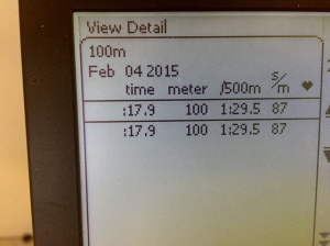 100 m SkiErg på 17.9 s
