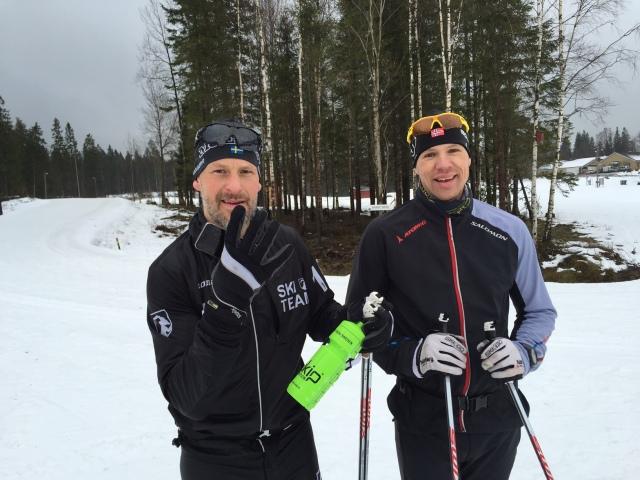 Stefan Palm och Z efter långpass i Ulricehamn i onsdags