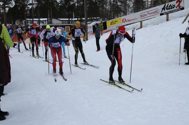 Min tiomannaklunga efter 24 km med Jerry Ahrlin, Snorri Einarsson, Viktor Thorn, Dan Moberg, Jack Impola, Andreas Nygaard, jag, Anders Solin och en TUBare som jag tror var Arne Post. Jag hittar han dock inte i resultatlistan.
