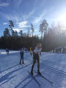 Jag före Peo Svahn i början av loppet. Foto: Larsåke Carlzon