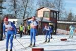 Rasmus Blom fick släppa då han bröt staven. Han fick snabbt en ny, men 154 cm istället för 158 cm.