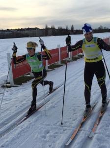 Teemu Virtanen och jag på Gärdet 11 februari